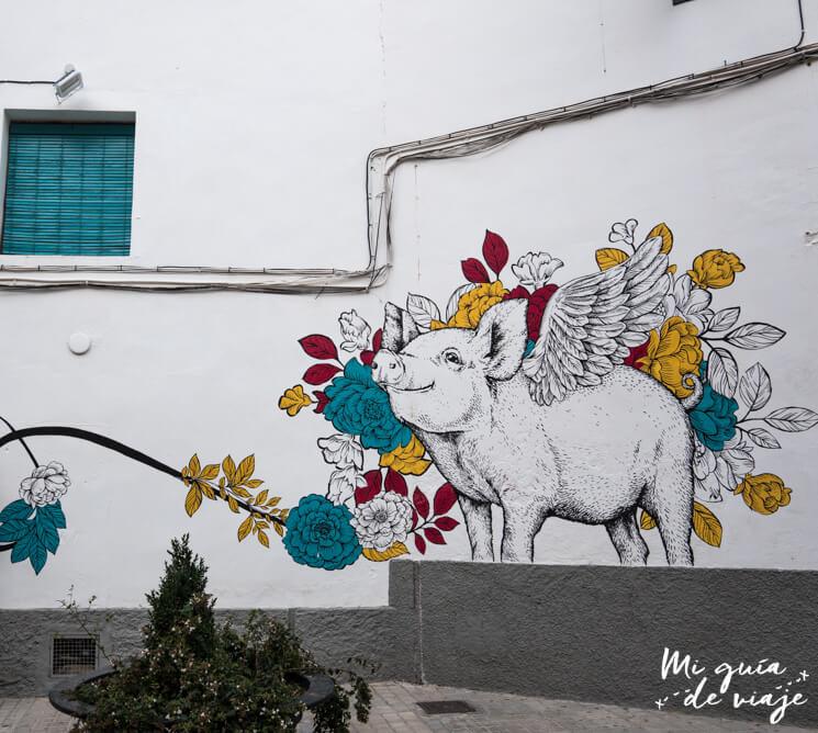 Pintura curiosa en pared Vilafamés