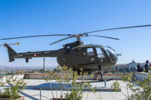 Helicóptero en Alcázar Toledo Exposición Militar