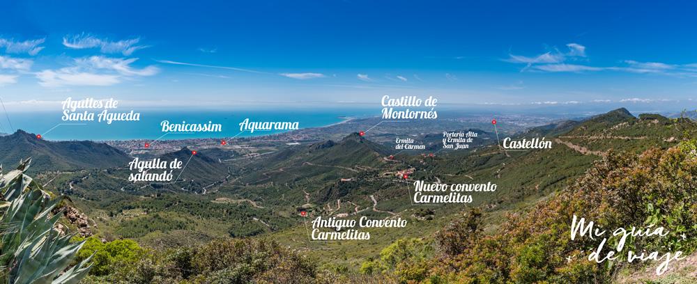 Vistas Cima Bartolo en Desierto de las Palmas